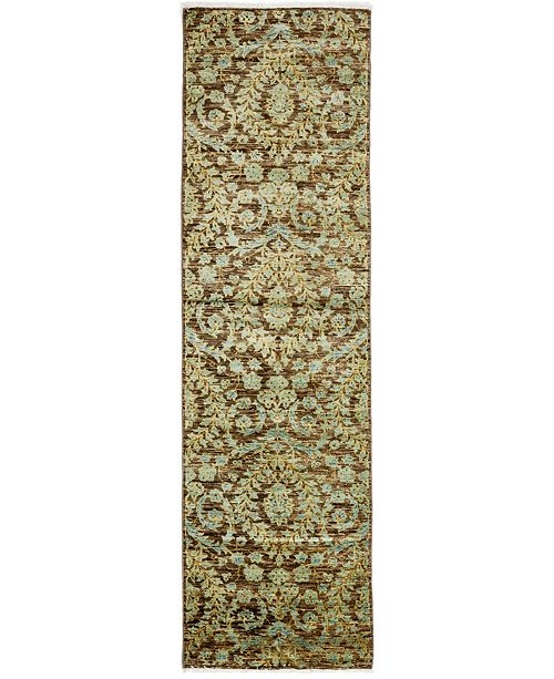 """Timeless Rug Designs CLOSEOUT! One of a Kind OOAK3230 Brown 2'6"""" x 9'10"""" Runner Rug"""