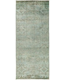 """CLOSEOUT! One of a Kind OOAK3115 Teal 5'3"""" x 12'1"""" Runner Rug"""
