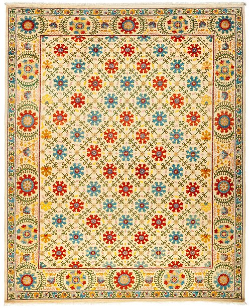 """Timeless Rug Designs CLOSEOUT! One of a Kind OOAK3038 Cream 8'3"""" x 10' Area Rug"""