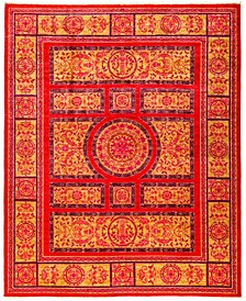 """CLOSEOUT! One of a Kind OOAK2978 Red 8' x 9'10"""" Area Rug"""