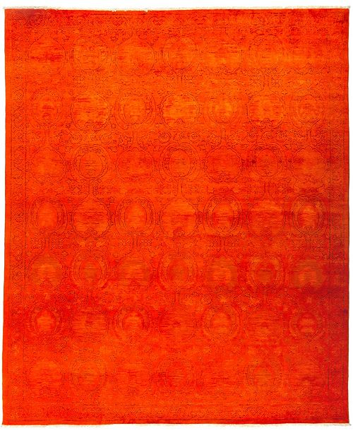 "Timeless Rug Designs CLOSEOUT! One of a Kind OOAK2954 Red 9' x 10'9"" Area Rug"