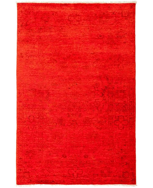 "Timeless Rug Designs CLOSEOUT! One of a Kind OOAK2933 Red 4'1"" x 6' Area Rug"