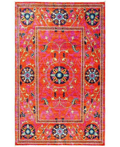"""Timeless Rug Designs CLOSEOUT! One of a Kind OOAK2867 Tangerine 5'2"""" x 8'4"""" Area Rug"""