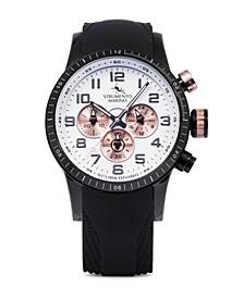 Men's Missouri Professional Scuba Black Silicone Nautical Sport Performance Timepiece Watch 46mm