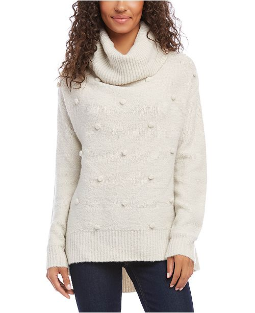 Karen Kane Pom Pom Turtleneck Sweater