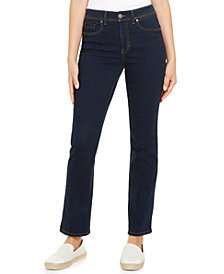 Style & Co Tummy-Control Straight-Leg Jeans in Regular, Short and Long Lengths, Created for Macy's