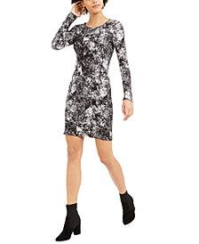 Bar III Printed Ribbed Bodycon Dress, Created for Macy's