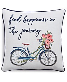 "Find Happiness 20"" x 20"" Decorative Pillow"