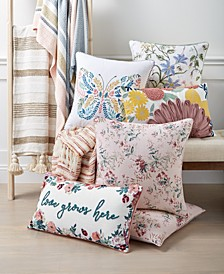 English Garden Decorative Pillow and Throw Collection