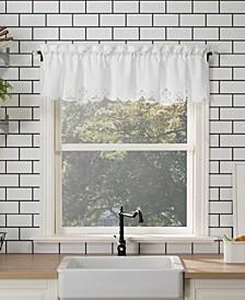 "Mariela 58"" x 14"" Battenburg Lace Trim Window Valance"
