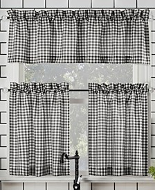 Parkham Farmhouse Plaid Valance and Tier Collection