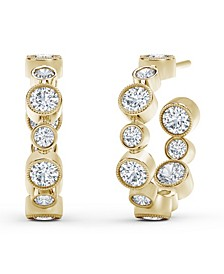 Tribute™ Collection Diamond (1-1/4 ct. t.w.) Hoop Earrings in 18k Yellow, White and Rose Gold.