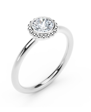 Forevermark Tribute Collection Diamond (1/3 ct. t.w.) Ring with Beaded Detail in 18k Yellow