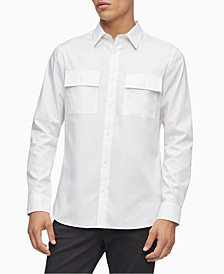 Calvin Klein Men's Regular-Fit Twill Utility Shirt