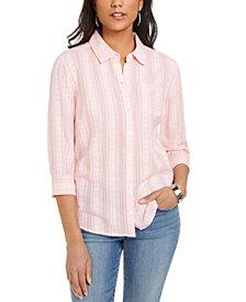 Karen Scott Cotton Printed Shirt, Created for Macy's