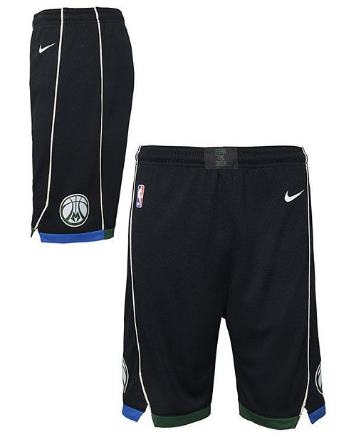 Nike Big Boys Milwaukee Bucks Statement Swingman Shorts