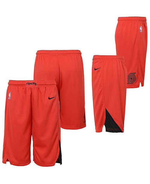Nike Big Boys Portland Trail Blazers Statement Swingman Shorts