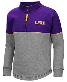 Big Girls LSU Tigers Dot Half-Zip Pullover