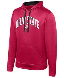Men's Ohio State Buckeyes Turbine Poly Hooded Sweatshirt