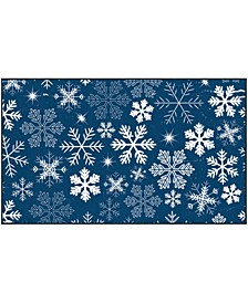 """Snowflakes Accent Rug, 18"""" x 30"""""""