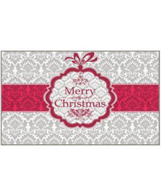 "Christmas Damask Accent Rug, 24"" x 40"""