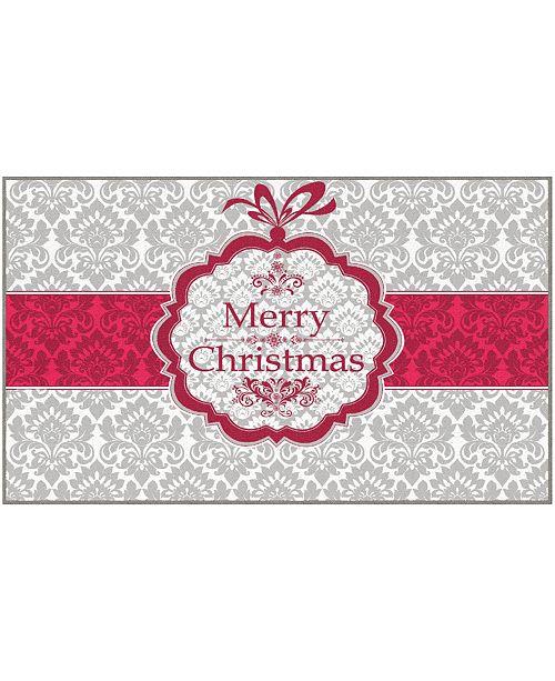 "Mohawk Christmas Damask Accent Rug, 24"" x 40"""