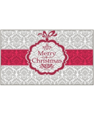 Christmas Damask Accent Rug, 24