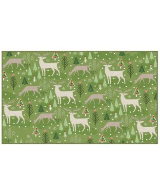 """Reindeer Flurries Accent Rug, 18"""" x 30"""""""