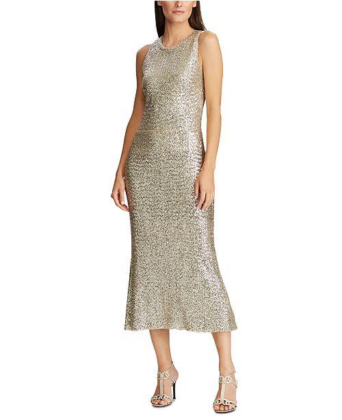 Lauren Ralph Lauren Sequined Holiday Dress