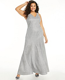 Trendy Plus Size Glitter-Knit Mermaid Gown