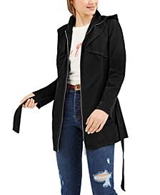 Juniors' Hooded Trench Coat