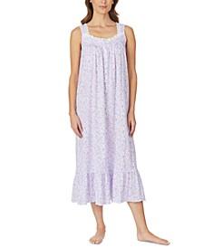Floral-Print Venise Lace Ballet Nightgown