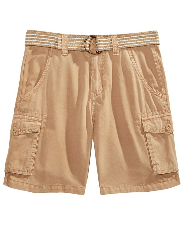 Ring of Fire Big Boys Bobby Twill Cargo Shorts with D-Ring Belt, Created for Macy's