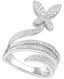 Diamond Butterfly Statement Ring (3/4 ct. t.w.) in 14k White Gold