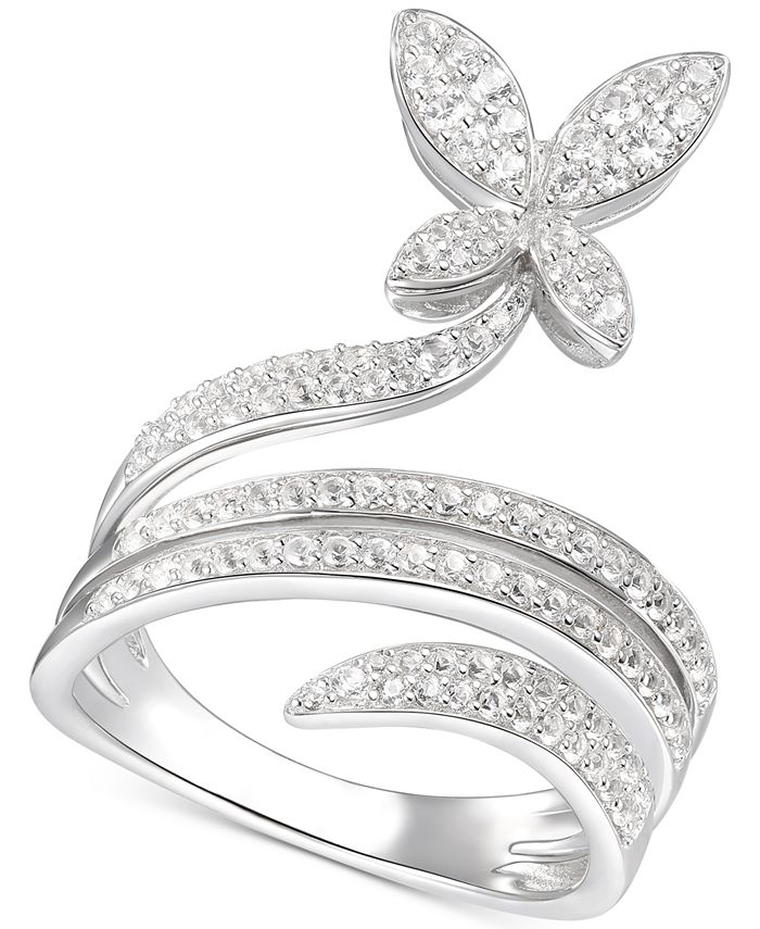 Macy's - Diamond Butterfly Statement Ring (3/4 ct. t.w.) in 14k White Gold