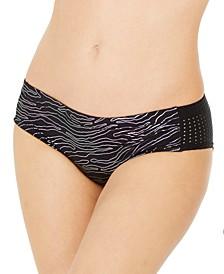 Geo Onyx Printed Mesh Hipster Bikini Bottoms