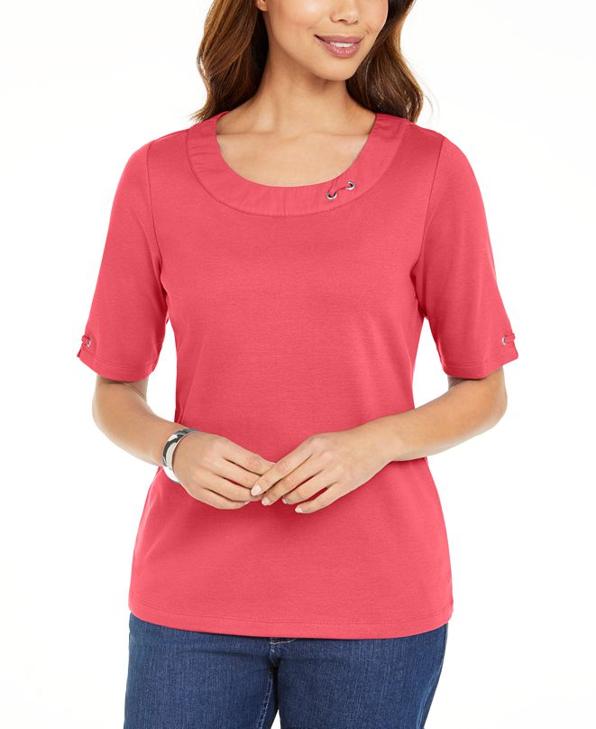 Karen Scott Cotton Ring Top, Created for Macy's