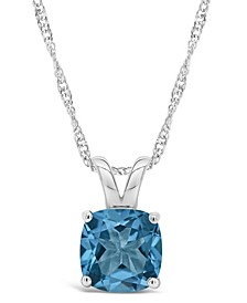 Garnet (2-3/4 ct. t.w.) Pendant Necklace in Sterling Silver. Also Available in Blue Topaz (2-3/4 ct. t.w.)