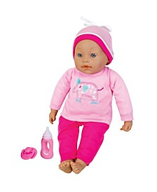 "16"" Interactive Baby Doll with Accessories"