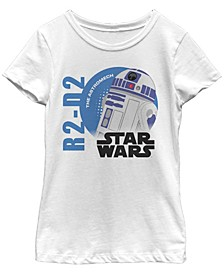 Star Wars Big Girl's Galaxy of Adventures Logo R2-D2 Circle G1P Short Sleeve T-Shirt