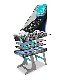 8-In-1 Folding Combo Game Table Football, Table Tennis, Pool, Hockey, Archery, Darts, Bean Bag Toss, Basketball