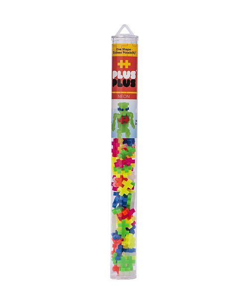 Plus-Plus - 70 Piece Neon Color Mix Building Set Play Tube