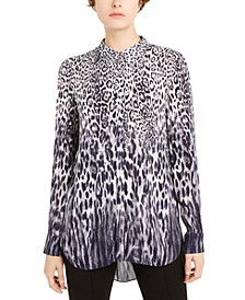 Ingunn Printed Button-Front Shirt