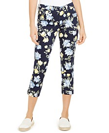 Floral Print Tummy Control Capri Pants, Created For Macy's