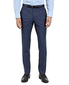 Hugo Boss Men's Slim-Fit Blue Check Suit Pants, Created For Macy's