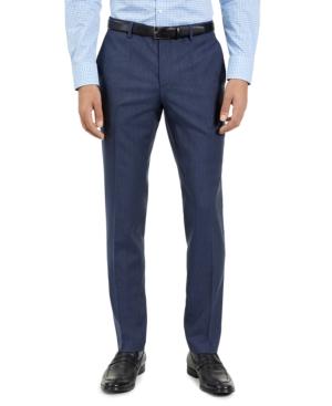 Hugo Men's Slim-Fit Blue Check Suit Pants, Created for Macy's