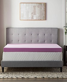 "4"" Lavender Memory Foam Mattress Topper, Full"