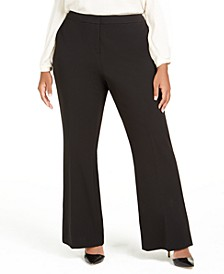 Plus Size Slit Wide-Leg Pants