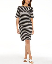 Petite Striped Shift Dress, Created For Macy's
