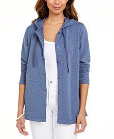 Karen Scott Button-Front Hoodie, Created for Macy's